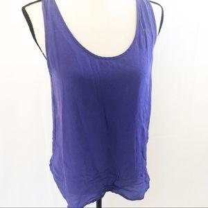 French Connection purple silk tank blouse